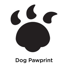 Dog Pawprint icon vector sign and symbol isolated on white background, Dog Pawprint logo concept