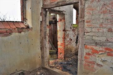 Ruine - Alte Scheune mit Fachwerk