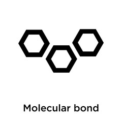 Molecular bond icon vector sign and symbol isolated on white background, Molecular bond logo concept