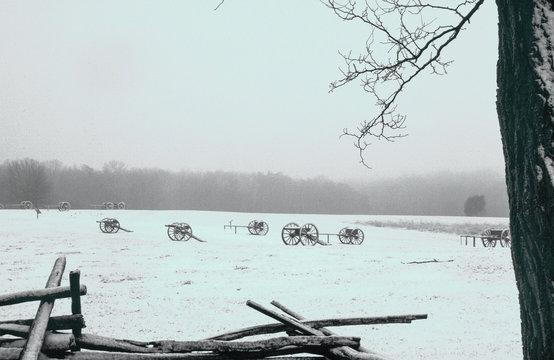 Winter on the battlefield from the Battle of Bull Run in Manassas, VA.