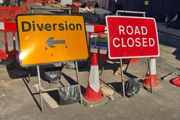 diversion road closed