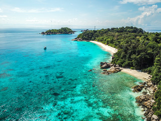 Similan islands from above, Thailand