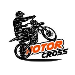rider moto cross ilustration