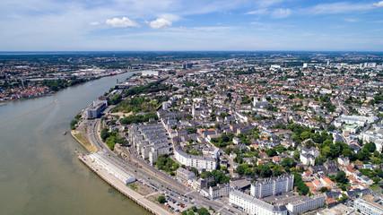 Vue aérienne sur la butte Sainte Anne, à Nantes