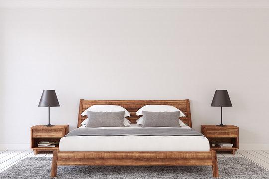 Bedroom interior. 3d render.