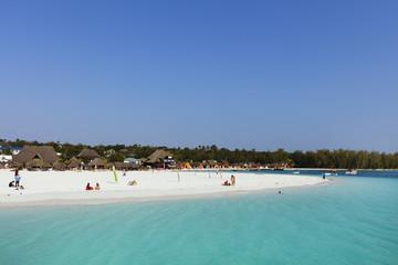 Beach in front on Kendwa Hotel, Nungwi, Island of Zanzibar, Tanzania, East Africa, Africa