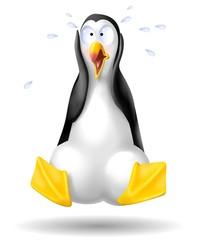 pinguino terrorizzato