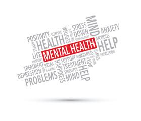 mental health words background