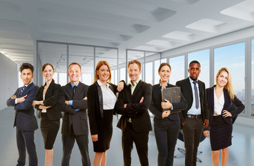 Business Gruppe als Team