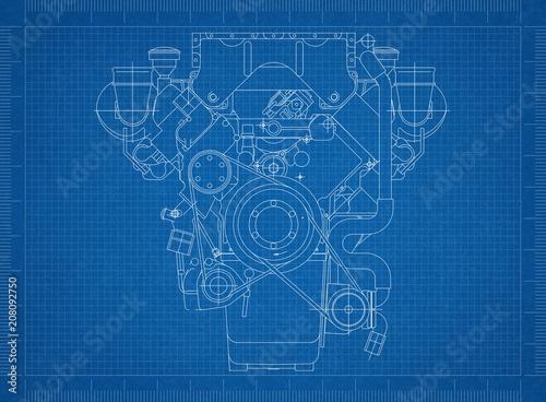 Car engine blueprint stock photo and royalty free images on fotolia car engine blueprint malvernweather Choice Image