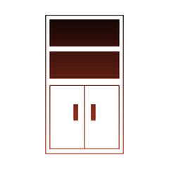 Office file cabinet vector illustration graphic design