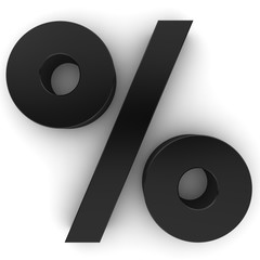 black discount sale 3d percent percentage sign symbol interest rate icon isolated