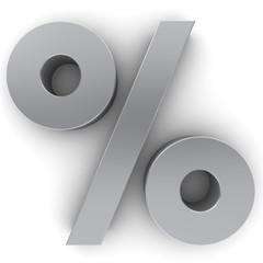 percent sign 3d percentage
