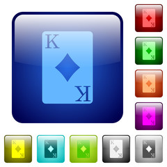 King of diamonds card color square buttons