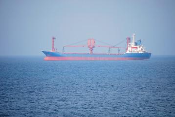 big ship in the sea