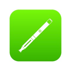 Electronic cigarette icon digital green for any design isolated on white vector illustration