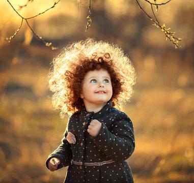 little curly girl