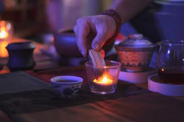 Preparing to chinese tea ceremony