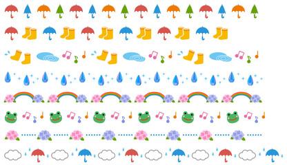 梅雨の飾り線