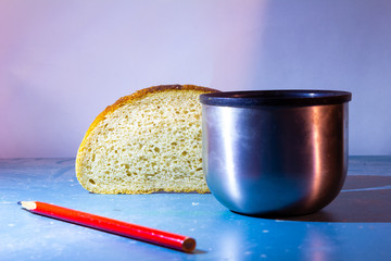 Bread and mug