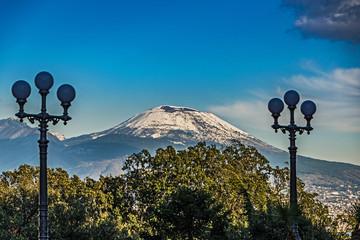 Vesuv mit Schneehaube, Neapel