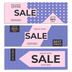 Sale banner template. Special offer. Vector gradient background