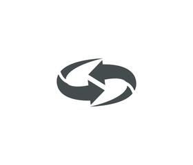 Arrow icon, recycle icon