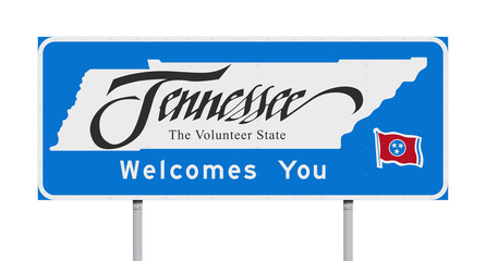 Tennessee Welcomes You road sign
