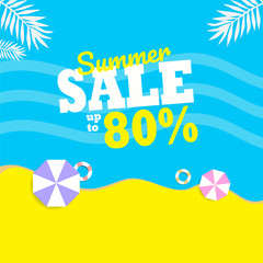 Summer Sale background layout for banners. Colorful and good for promotion