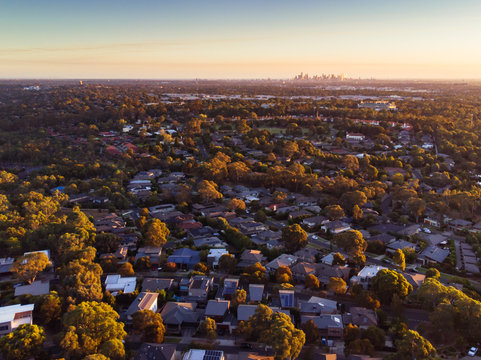 View over Macleod in Melbourne