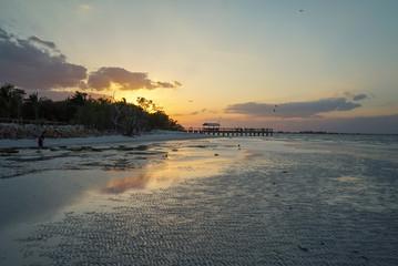 Gorgeous Sunset on Sanibel Beach in Florida