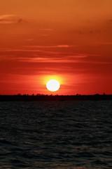 Brilliant Orange Sunset over Sanibel Beach