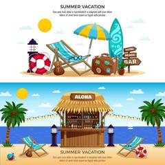 Summer Vacation Horizontal Banners