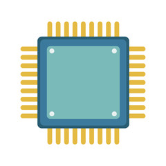 Microchip technology isolated vector illustration graphic design