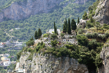 Cemetery at Cliff in Positano Italy