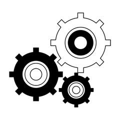 Gears working symbol vector illustration graphic design