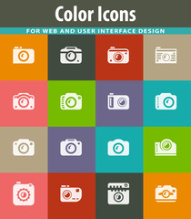 photo camera icon set