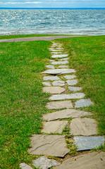 Stone Path to Lake Superior