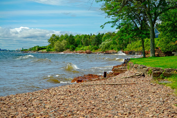 On the Water's Edge at Lake Superior in Northern Minnesota