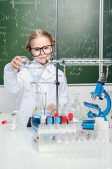 smart scientist girl