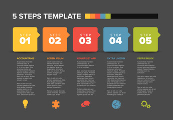 Infographic Layout with Colorful Speech Bubbles