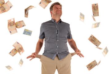 Armer Mann kommt zu Geld