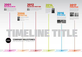 Timeline Infographic Layout with Map Callouts