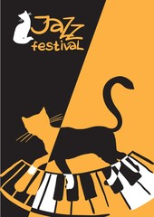 Jazz festival / Creative conceptual music festival vector. Musical instruments.