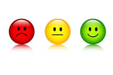 drei smileys bewertung gesichter
