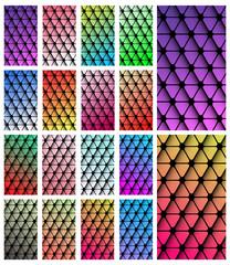 Set of geometric wallpaper for smartphone screen