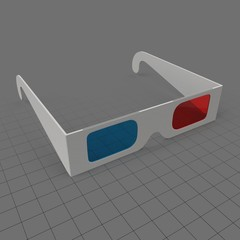 Cardboard glasses for 3D