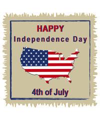 Design für den unabhängigkeitstag der USA am 4. Juli. Vektordatei Eps10