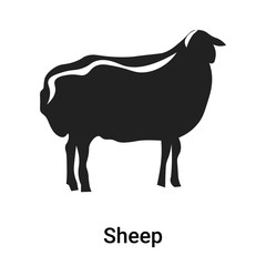 Sheep icon vector sign and symbol isolated on white background, Sheep logo concept