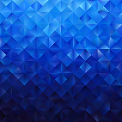 Blue geometric triangular pattern. Abstract vector background.